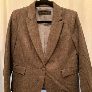 Zara tweed blazer with elbow patches